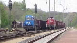 Vossloh G2000 derr OHE im schweren Schrottverkehr