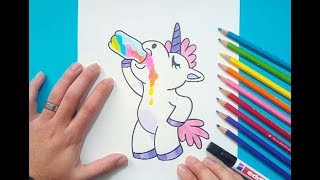 Como dibujar un unicornio paso a paso 5 | How to draw a unicorn 5