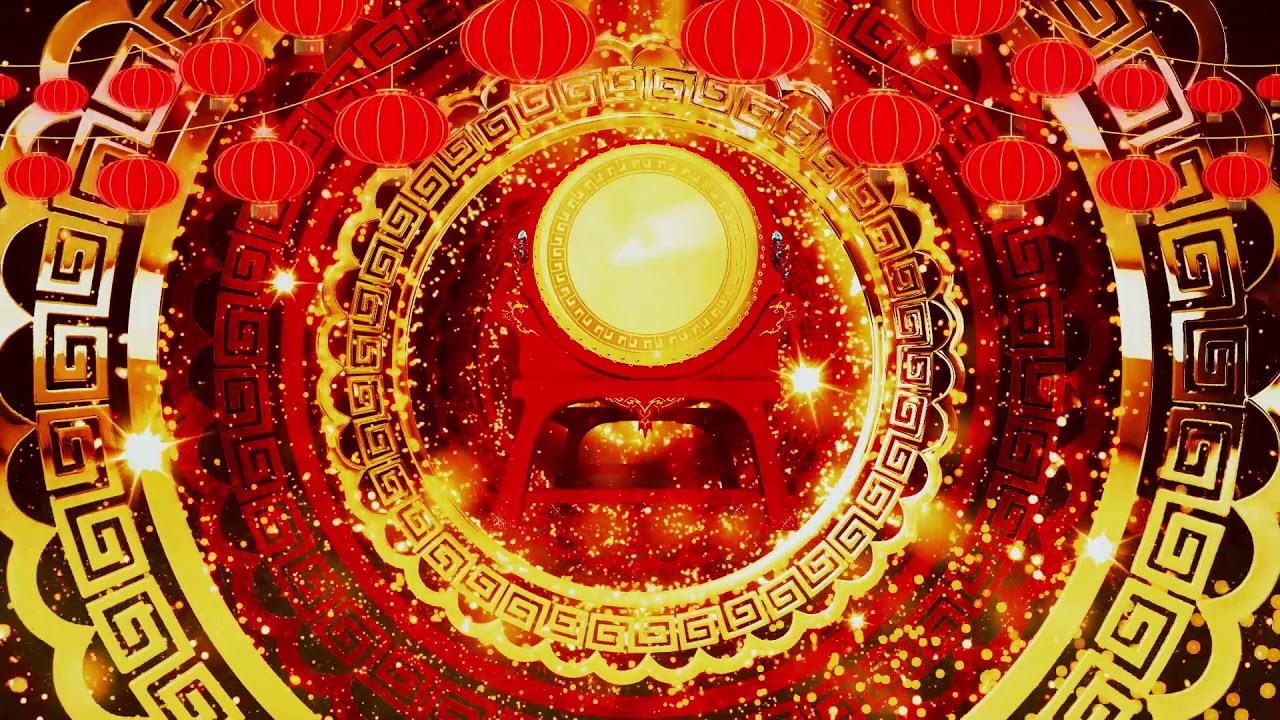 2020 new year spring festival chinese drum festive ...