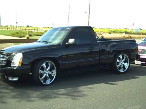 Chevy Silverado Stepside Truck With First Escalade Front End Conversion In Cali You