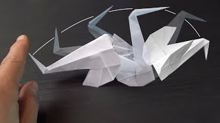 Kinetic Swan / Crane - Origami