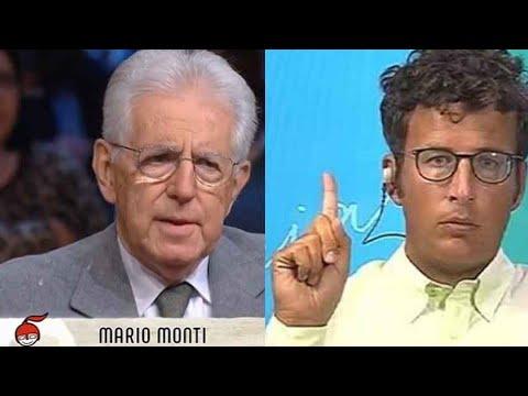 DIEGO FUSARO sbugiarda MARIO MONTI, che si infuria. Caos in studio a Rai3!