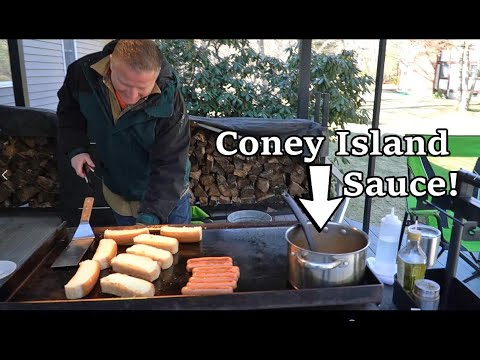 Coney Island Dogs  - On The Blackstone Griddle!