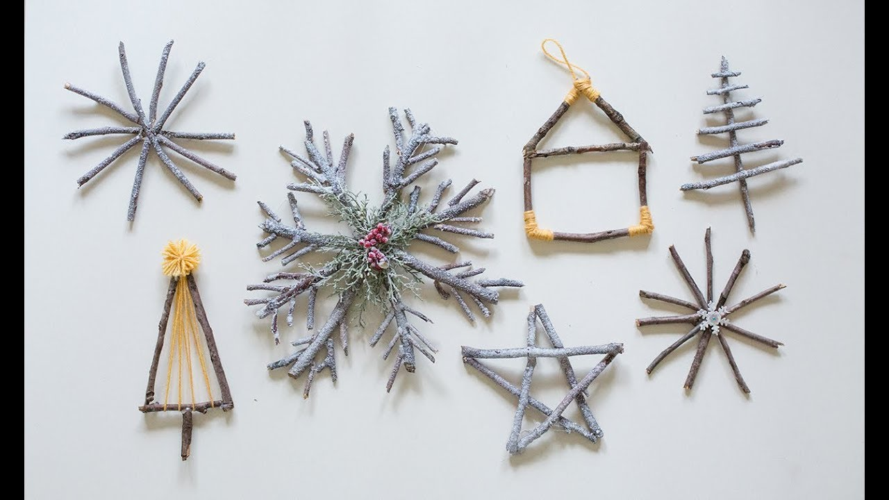 Christmas Branch Decoration Ideas.Diy Christmas Decor Ideas Snowy Branch Ornaments In 7 Different Ways