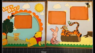 Winnie the Pooh and friends, 2 page 12x12 scrapbook layout
