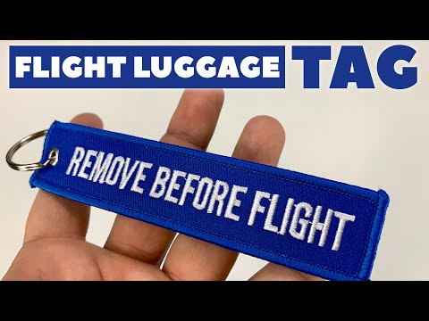 Remove Before Flight Keychain Luggage Tag Review