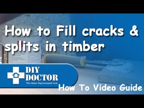 Repairing Cracks And Splits In Timber