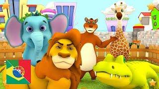 Vamos ao Zoológico | Canções Infantis | Rimas Para Bebês | Música De Criança