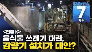 [7시뉴스제주/200707 현장K]  음식물 쓰레기 대…