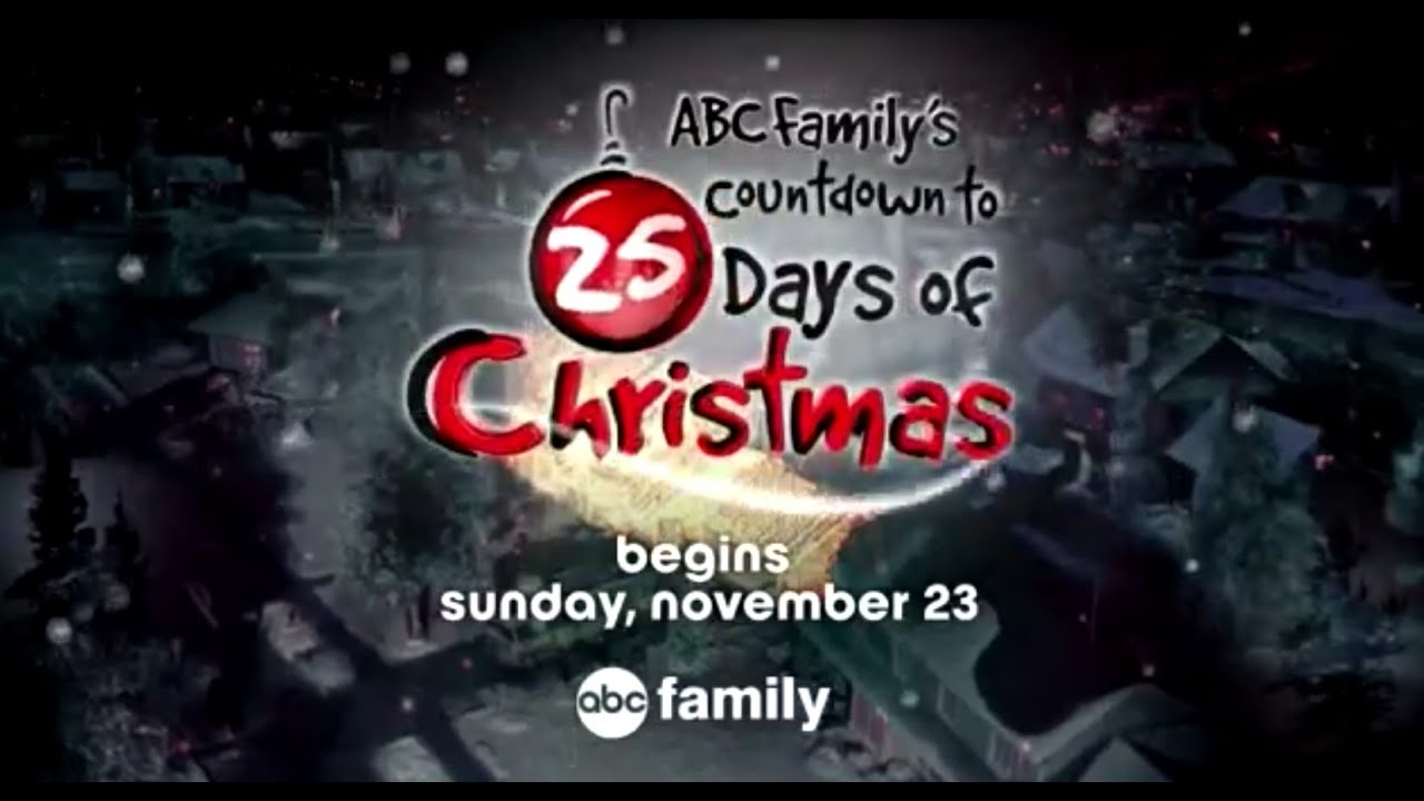 abc familys countdown to 25 days of christmas youtube - 25 Days Of Christmas Abc Family
