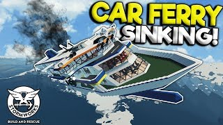 CAR FERRY CAPSIZES IN HUGE WAVES! - Stormworks: Build and Rescue Gameplay - Sinking Ship Survival