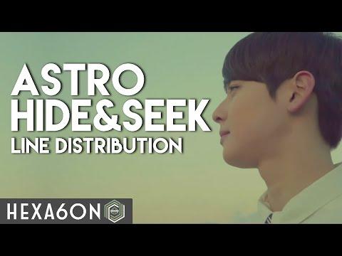 Astro - Hide & Seek Line Distribution (Color Coded)