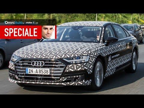 Nel traffico con la nuova Audi A8 che guida DA SOLA