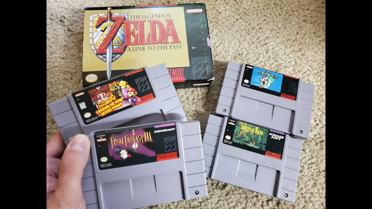 RARE SUPER NINTENDO GAMES?! / Live Video Game Hunting