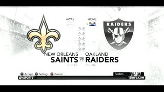 PS3 Gameplay: Madden NFL 12 (Pre-Season 3) [Raiders vs Saints]