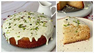 Super Moist Mithai Cake In kadai | No whipping Cream, No oven, No Eggs Mithai Cake | Indian Desserts