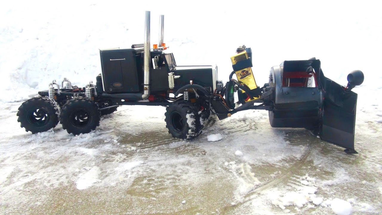 Rc Adventures Rc Rotary Snow Plow Snow Mover Test 2