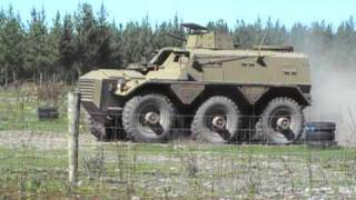 Alvis Saracen APC driving at Tanks For Everything Christchurch