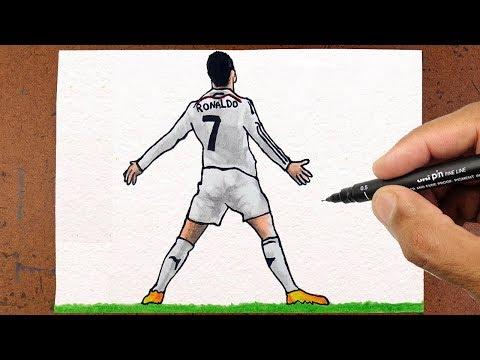 Como Desenhar O Cristiano Ronaldo Cr7 Jogador De Futebol Youtube