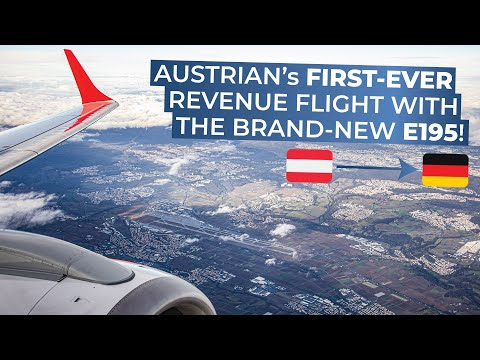 TRIPREPORT | Austrian Airlines (Business) | Vienna - Stuttgart | INAUGURAL Embraer 195 flight
