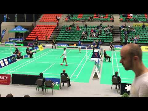 Kento Momota vs Medina Vincent Yonex Belgian open 2017