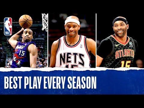 Vince Carter's Best Play Each Season In His NBA Career