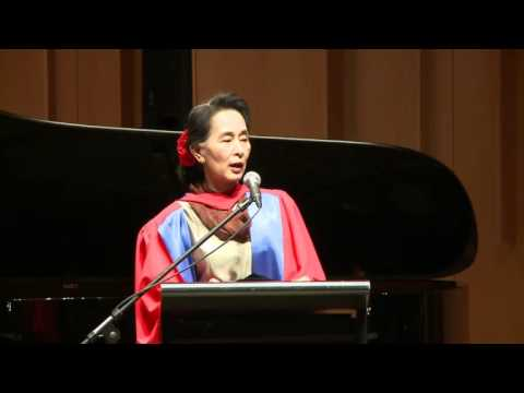 Speech delivered by Aung San Suu Kyi at ANU, Canberra-Australia