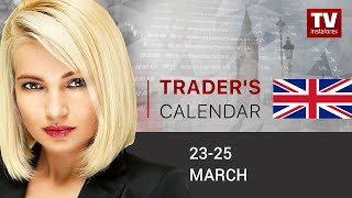 Trader's calendar for March 23 - 25: Markets to learn about coronavirus impact on economy