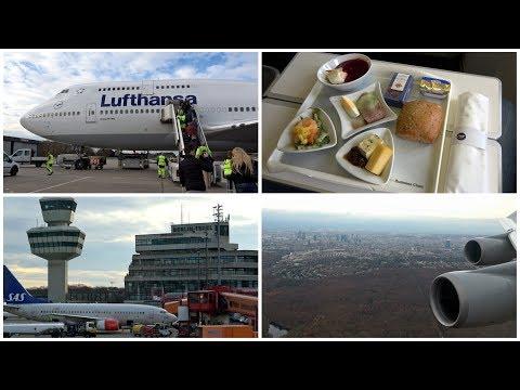 Business Class Trip Report | LUFTHANSA Boeing 747 Berlin TXL-FRA | 24.11.2017 | 4K