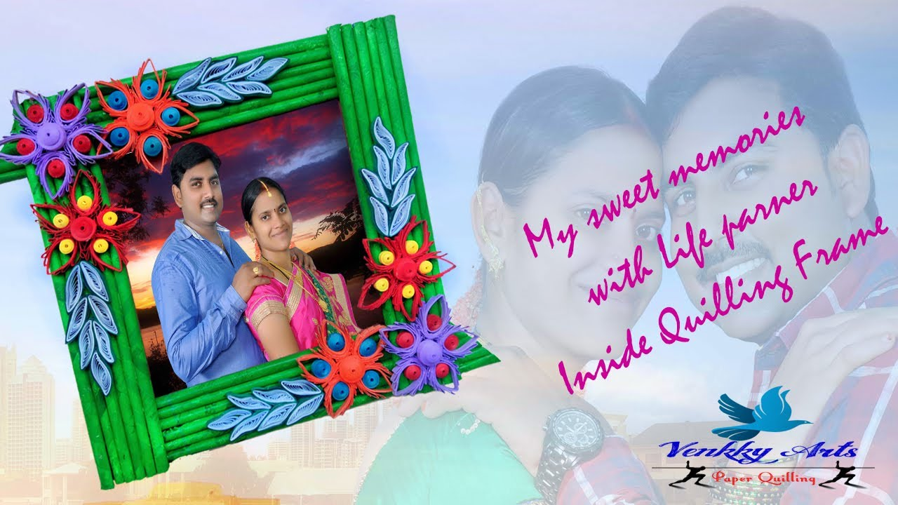 How to Make Beautiful Quilling Photo Frame Designs | Paper Quilling Art