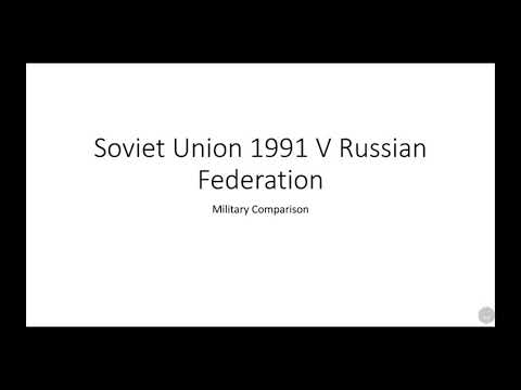 USSR 1991 VS Russian Federation