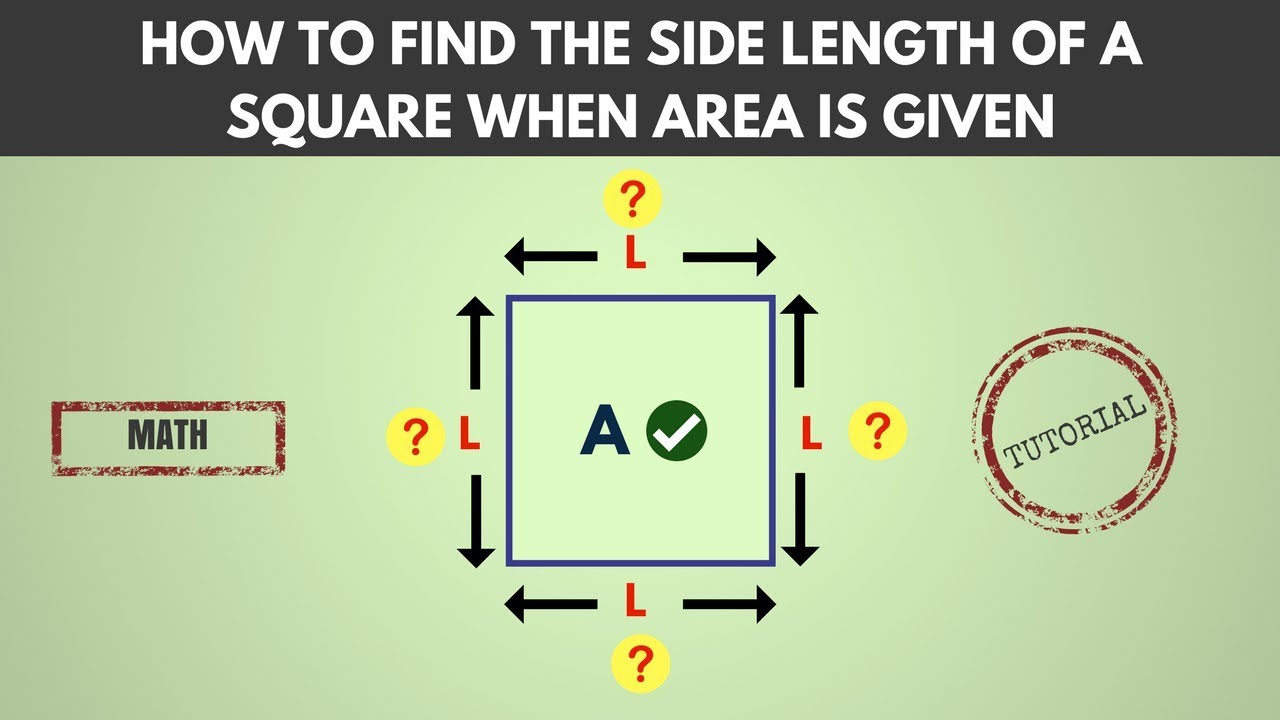 how to find the side of square info area