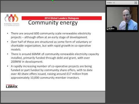 Co-operative Renewable Energy with Ed Mayo, Secretary-General, Cooperatives UK