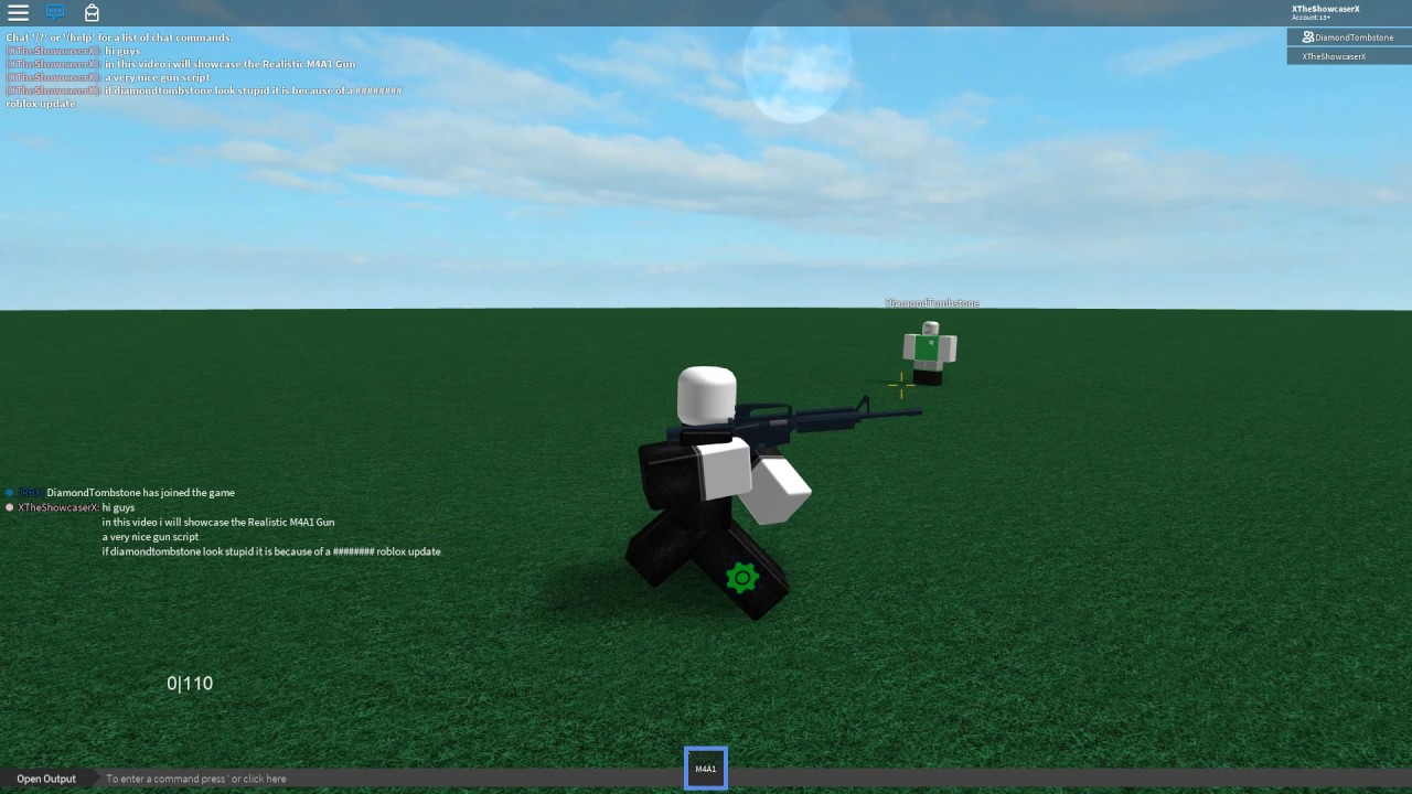 Roblox Script Showcase Episode#570/Realistic M4A1 Gun