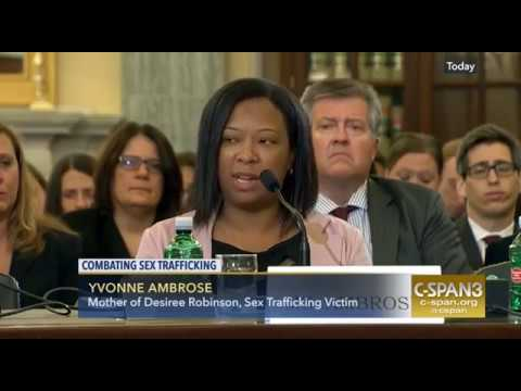 Yvonne Ambrose Testifies before the Senate in support of Anti-Sex Trafficking Legislation