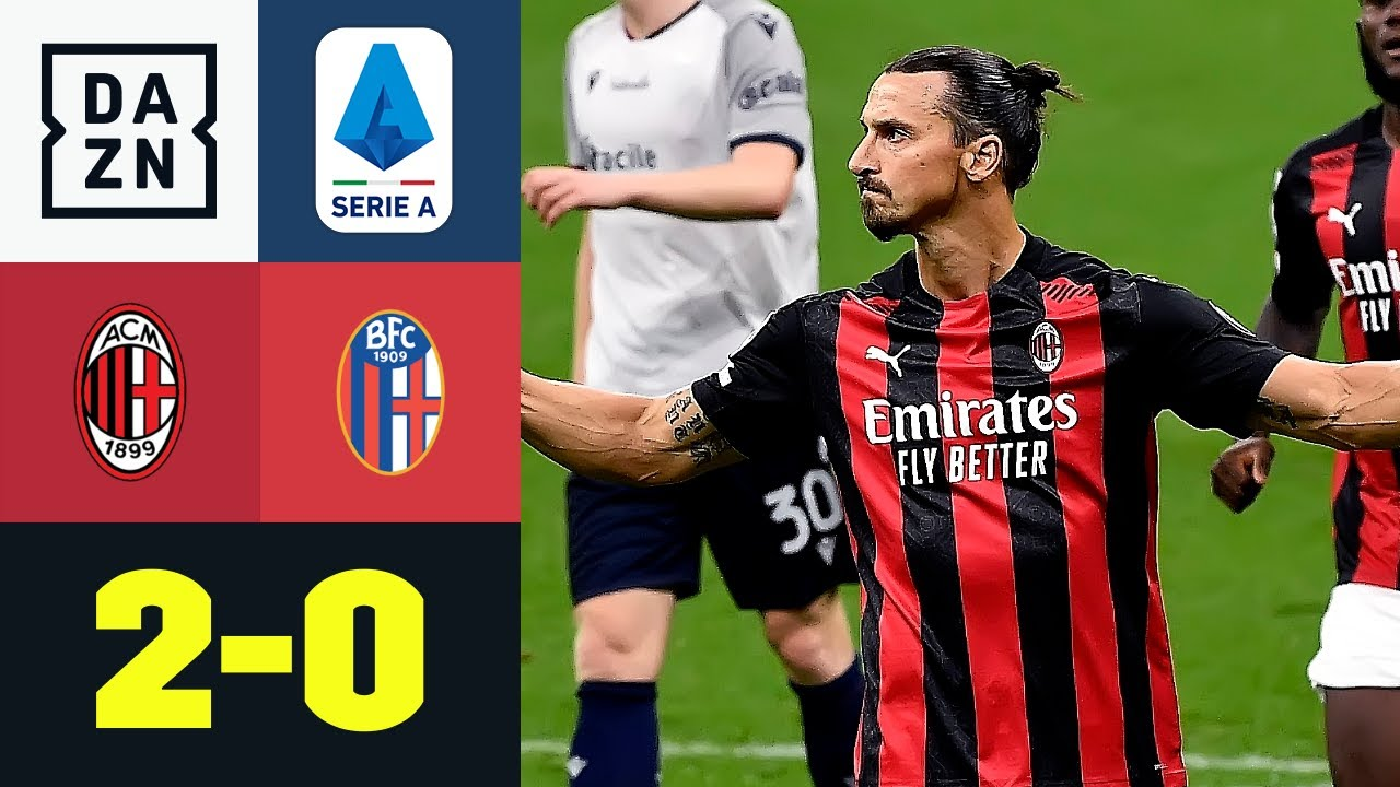 Ibrahimovic-Doppelpack versüßt Rebic-Geburtstag: AC Mailand - FC Bologna 2:0 | Serie A | DAZN