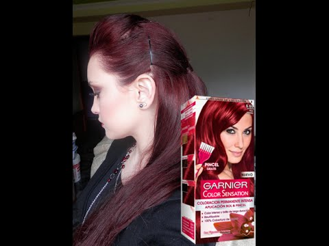 Tintes de cabello color rojo intenso