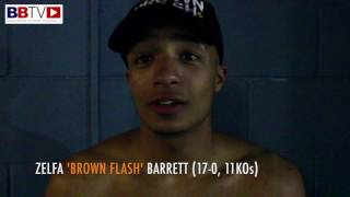 ZELFA BARRETT Gives Post Fight reaction to his 17th win in Bolton (Ringside Fight Footage)