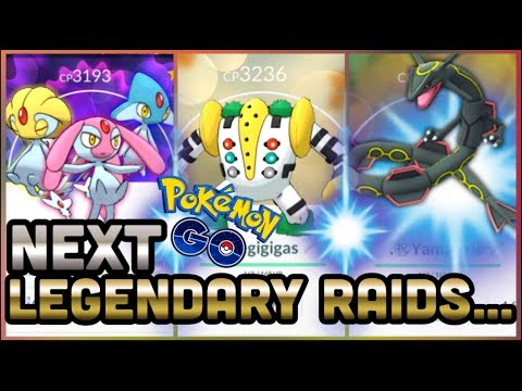 NEXT LEGENDARY RAIDS IN POKEMON GO | SHINY RAYQUAZA PLEASE🙏