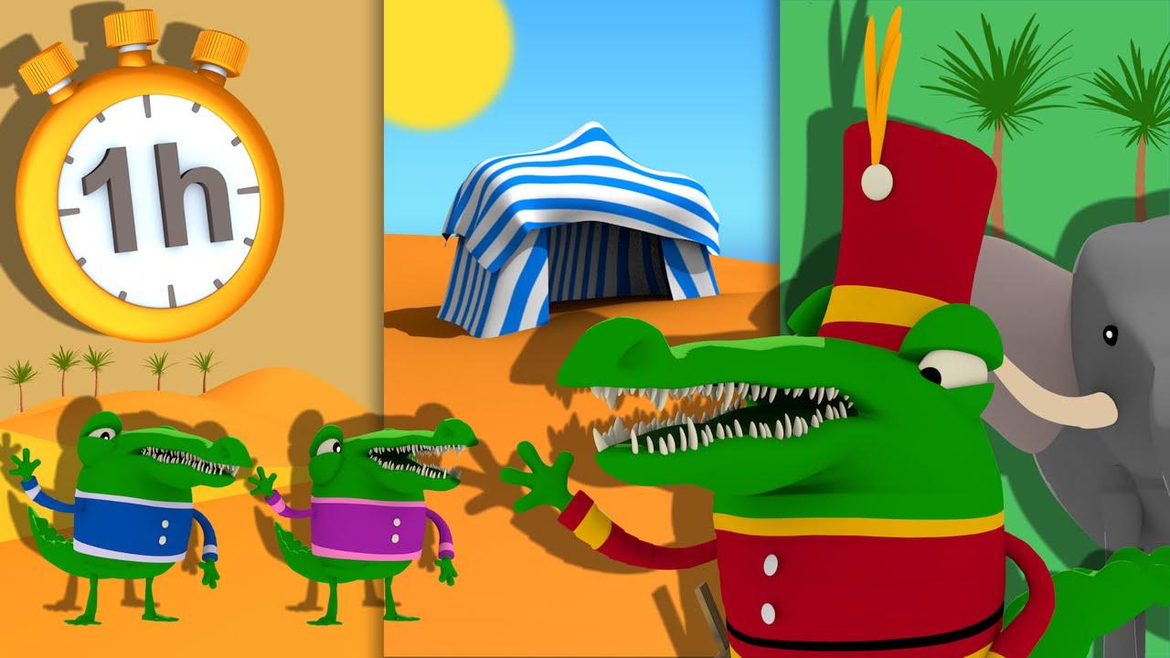 Ah Les Crocodiles 1h De Comptines Avec Paroles Youtube