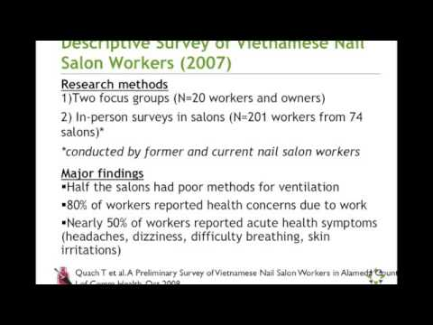 Addressing Nail Salon Worker Health and Safety Through Community Health Centers - Part 1