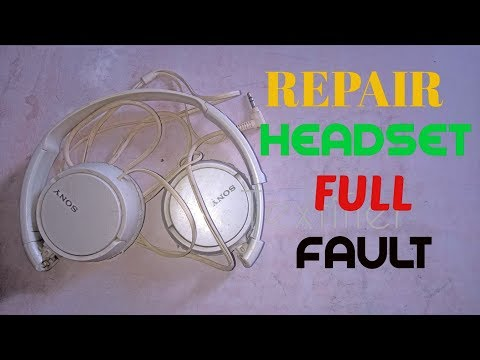Repair Sony Headset in simple way
