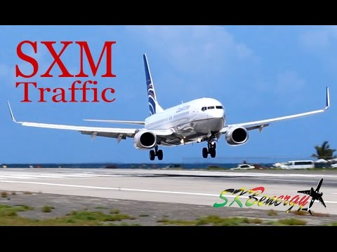St. Maarten Action !!! 737 ,757, MD-82, A320...action @ the Princess Juliana Int'l Airport - Part 1