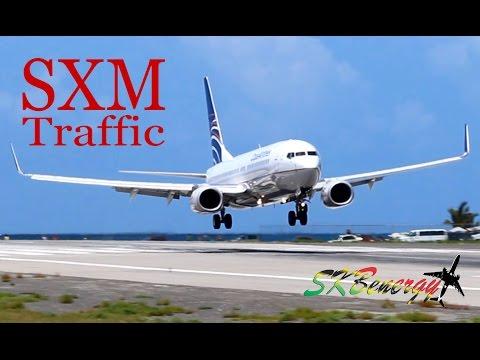 St. Maarten Action !!! 737 ,757, MD-82, A320...action @ the Princess Juliana Int'l Airport - Part 1