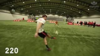 Steven Gerrard takes on the 5 shot challenge