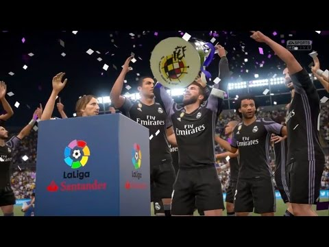 REAL MADRID CHAMPION OF LA LIGA 2017 !!! Malaga vs Real Madrid 0-2 |FIFA 17 REMAKE by Pirelli7