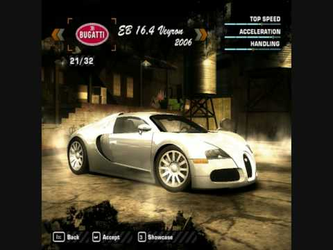 my nfs most wanted car mods bugatti veyron 16 4 tuning youtube. Black Bedroom Furniture Sets. Home Design Ideas