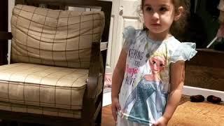 3 year old doing Myriam fares goumi challenge