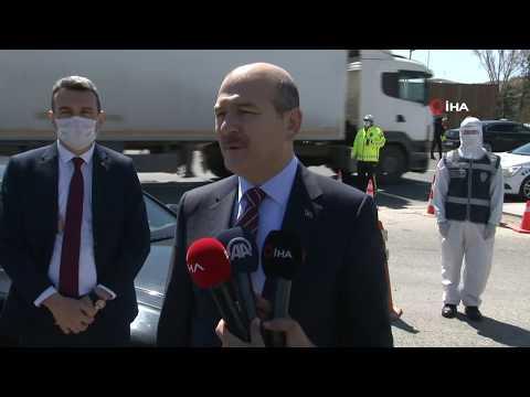 İçişleri Bakanı Soylu'dan Görev Başındaki Polislere Ziyaret