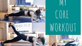 """REUPLOAD"" MY CORE WORKOUT + PLANK ROUTINE"